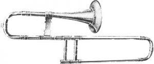 Trombone soprano du XVIIIe siècle, signé J. F. Schwabe de Leipzig