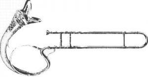 Trombone «romantique» du XIXe siècle, d'origine belge