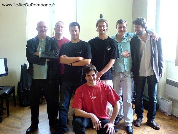 2006-2007 (Lyon) : Frédéric POTIER (professeur) / Fabien DORNIC / Rémi BARBERON / Olivier DUBOIS / Arnaud DRUARD / Valentin PEREZ / Ruben GONZALES DEL CAMINO